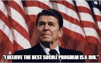 reagan social program